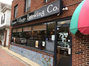 Human Village brewing craft beer sticker Pitman NJ